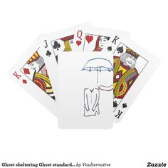 Ghost sheltering Ghost standard playing cards