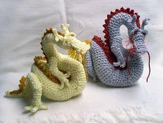 Free asian dragons amigurumi pattern