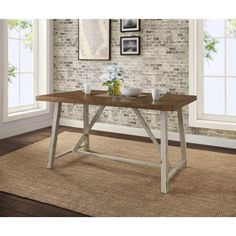 """Better Homes and Gardens Collin Dining Table - Walmart.com $155 58.5""""W x 35.5""""D x 30""""H"""