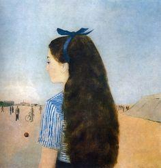 Kamil Lhoták - A girl with long hair Painting Of Girl, Painting Art, Paintings, Ellsworth Kelly, Old Art, Animal Crossing, Art Drawings, Sketches, Watercolor