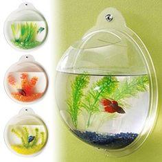 Tucker Murphy Pet Jacquelyn Fish Bubble Deluxe Acrylic Wall Mounted Aquarium Tank