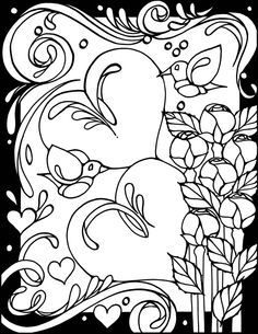 Page 1: 3-D Coloring Book--Hearts by Dover Publishing | Coloring ...
