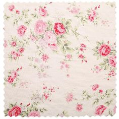 A timeless Shabby Chic floral print fabric. Featuring pink blooms on an ivory background, this Shabby Chic Wildflower linen fabric adds the perfect bit of femininity to any space. Vintage Floral Fabric, Shabby Chic Fabric, Floral Print Fabric, Shabby Chic Pink, Shabby Chic Bedrooms, Vintage Shabby Chic, Shabby Chic Homes, Shabby Chic Style, Fabric Decor