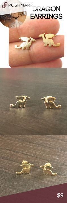 Dragon earrings studs game of thrones lovers New, gold, dragon queen style Jewelry Earrings