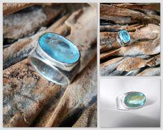 Aquamarine ring by EK Art Jewelry Tamarindo Costa Rica
