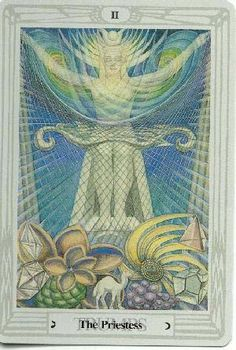 The Priestess - Aleister Crowley Thoth Tarot 1986 by AGMuller - rozamira tarot - Picasa Web Albums