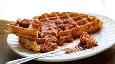 Cauliflower and Cheese Waffles are ideal for a quick supper, unexpected luncheon guests and even a cocktail party nibble (cut into small portions). Cheese Waffles, Pancakes And Waffles, Chicken Lunch Recipes, Nibbles For Party, Cheesy Recipes, Savoury Recipes, Vegan Recipes, Waffle Recipes, Yum Yum Chicken