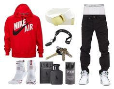 A menswear look from December 2016 featuring men's accessories, men's gold chain necklaces and letterman jacket. Browse and shop related looks. Dope Outfits For Guys, Swag Outfits Men, Stylish Mens Outfits, Boy Outfits, Nike Outfits For Men, Dope Fashion, Mens Fashion, Fashion 101, Tomboy Fashion