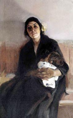 "Joaquín Sorolla y Bastida ""Joaquina la gitana"" Spanish Painters, Spanish Artists, Mother And Child, Portrait Art, Great Artists, Les Oeuvres, Art History, Art Gallery, Fine Art"