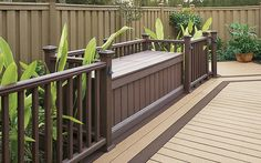 Increase the functionality of your #deck and keep your backyard neat and tidy with a storage box made using #Trex Accents decking.