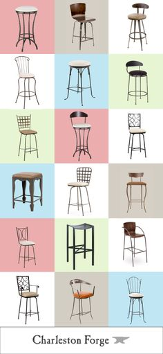Charleston Forge Barstools. Made in USA quality hand-forged Furniture for over 30 years. http://www.charlestonforge.com/barstools.htm