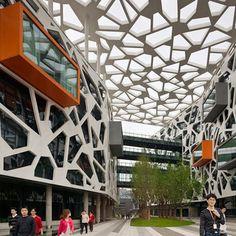 vue intérieure Facade Design, Architecture Design, Klimt Art, 3d Architectural Visualization, Toyo Ito, Harbin, Building Facade, Construction Design, Facade House