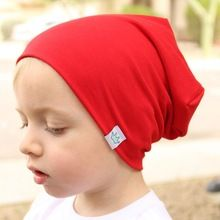 187731b33b39 Winter Cotton Baby Hat Knitted Beanie Girls and Boys Bomber Caps ...