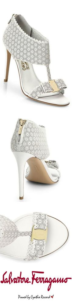 Salvatore Ferragamo Summer White Pellas Lace Sandals 2015