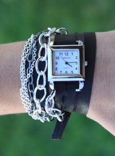 I need to make one of these.  must thrift some leather!  and an old watch.