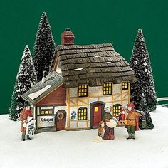 """Department 56 """"Mr, and Mrs. Pickle"""" Retired: Department 56 home décor. Christmas Village Collections, Christmas Village Display, Christmas Villages, Santa's Village, Alpine Village, Christmas In The City, Christmas Home, Christmas Things, Villas"""