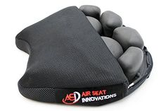 """Air Motorcycle Seat Cushion Pressure Relief Pad Large for Cruiser Touring Saddles 15"""" x 13.5"""". For product info go to:  https://www.caraccessoriesonlinemarket.com/air-motorcycle-seat-cushion-pressure-relief-pad-large-for-cruiser-touring-saddles-15-x-13-5/"""