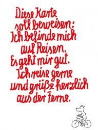 Eine tolle Postkarte mit einem tollen Gedicht!
