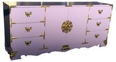 One Kings Lane - All About Her - Midcentury Lavender Credenza purple #colorfurniture