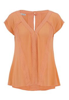 lightweight gauze and crochet top (original price, $29) available at #Maurices