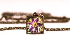 Naszyjnik z sasanką / Pulsatilla Necklace - Art-Of-Nature