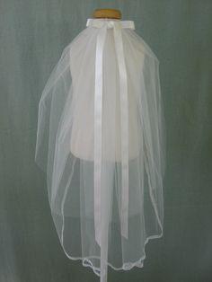 First Communion Veil - Ribbon. $29.00, via Etsy.