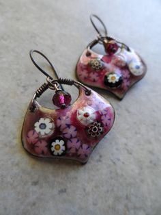 Very Berry ... Artisan-Made Enameled Copper Czech Glass and