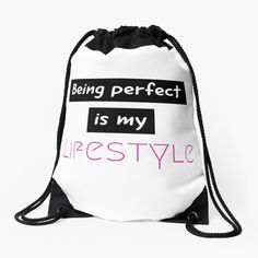 Be Perfect, Drawstring Backpack, What To Wear, Backpacks, Printed, Lifestyle, Awesome, Bags, Products