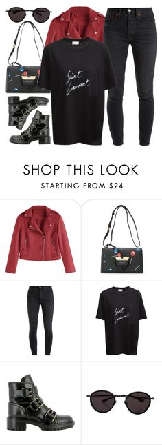 """""""REEBONZ.com"""" by monmondefou ❤ liked on Polyvore featuring RE/DONE, black and red"""