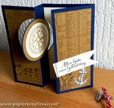 Stampin up, circle card, Open Sea & By The Tide Www.papierkreationen.net