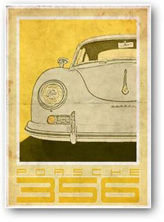 Porsche 356 Vintage Style Poster The best Porsche ever : ) Based on the Produced to look like an old poster. Part of a series of Vintage Porsche & Volkswagen images. Porsche 356 Speedster, Porsche 356a, Porsche Cars, Vintage Stil, Style Vintage, Vintage Fashion, Etsy Vintage, Vintage Racing, Vintage Cars