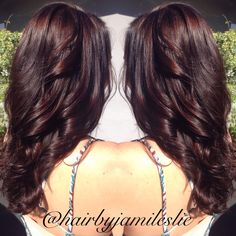Gorgeous rich mahogany golden brown with long layers. Hair by Jami Leslie. Tiger Tail Salon- Carlsbad CA