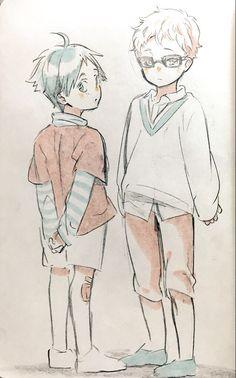 Haikyuu!! Love #tsukishima #yamaguchi #cute