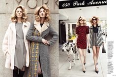 Dog Days: Alexandra Tikerpuu, Steffi Soede And Helene Desmettre By Lara Jade For Elle Singapore August 2014