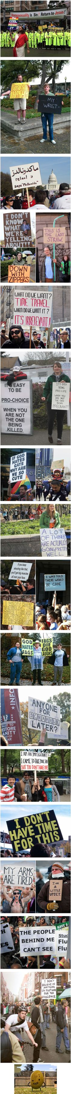 Clever People Who Wonderfully Trolled Protesters - 9GAG