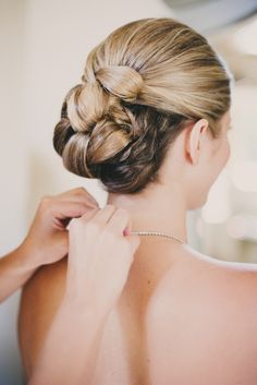 classic updo wedding hairstyle; PHOTOGRAPHY BY JUNE COCHRAN PHOTOGRAPHY