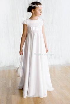 Szyfonowa sukieneczka komunijna