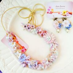 #lolitasummer Multi-way necklace & earrings. Now available at store: www.facebook.com/lolitasummer #accessories #jewelry #necklace #earring #handmade #flower #hkshop