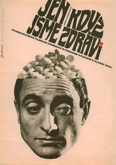 Czech poster for AS LONG AS YOU'RE HEALTHY (Pierre Etaix, France, 1966)  Designer: Jaroslav Sura (1929-2011)  Poster source: Terry Posters  See more posters for the films of Pierre Etaix at Movie Poster of the Week at mubi.com.