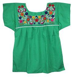 Mexican Peasant Puebla Blouse, Green, Medium Liliana Cruz http://www.amazon.com/dp/B009ECCWMY/ref=cm_sw_r_pi_dp_m7q2wb11NSK5Q