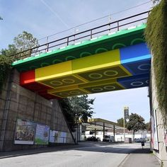 #Lego #Bridge #Germany #StreetArt #Art #Hrack #Style