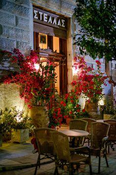 Restaurant/cafe in Syros Island, Hermoupolis, Aegean_ Greece
