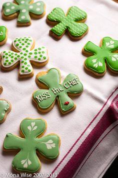 Irish cookies for St Patrick's Day :) Yum
