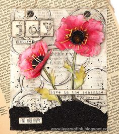 Layers of ink - Poppy Mixed Media Panel Tutorial