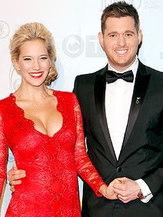 Singer Michael Bublé, 37, and his wife Luisana Lopilato, 26, welcomed son Noah at 2:26 a.m. Tuesday, Aug. 27 in Vancouver. (via People; photo via Todd Korol/Reuters/Landov)