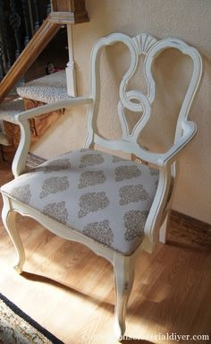 Beautiful Dining Room Chairs Made Over   Check Out How The Seat Cushions  Were Done!