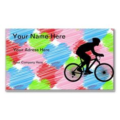 Cyclist Pack Of Standard Business Cards  #Cyclist #Bicyclist #Cycling #Biking #Bike #Bicycle #Sports #BusinessCard