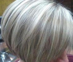 Gray highlighted hair