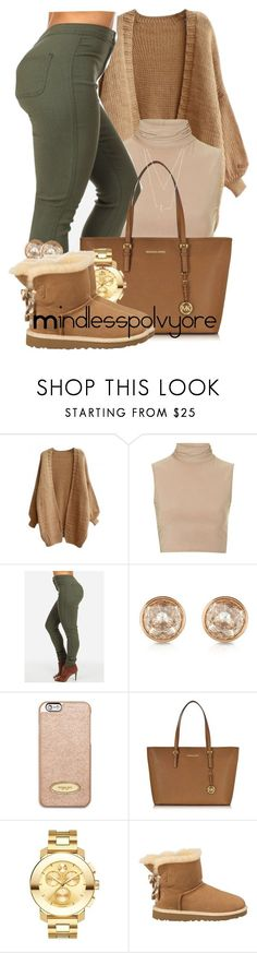 """How could you ever cut me loose? na na na"" by mindlesspolyvore ❤ liked on Polyvore featuring Rare London, Michael Kors, MICHAEL Michael Kors, Movado, UGG Australia and Forever 21"
