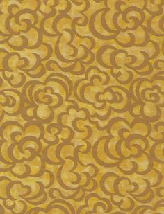 5717 NUVOLE in warm yellow & caramel Fortuny Printed Cottons Rembrandt Paintings, Textile Prints, Damask, Printed Cotton, Animal Print Rug, Art Pieces, Warm, Yellow, Caramel